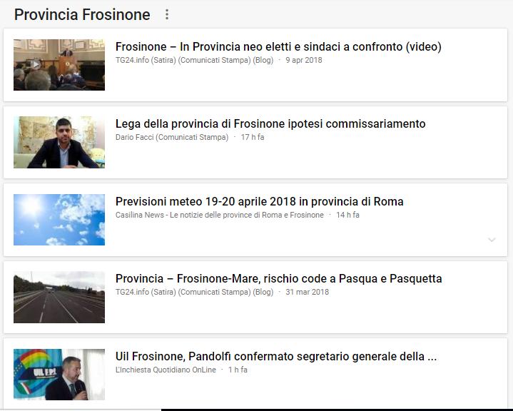 notizie frosinone e provincia 19 aprile 2018 - 1